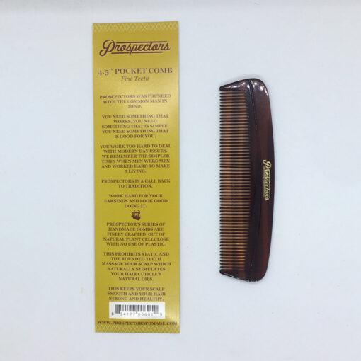 Pocket Comb Fine Teeth by Prospectors