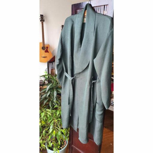Hemp & Silk Robe Graphite