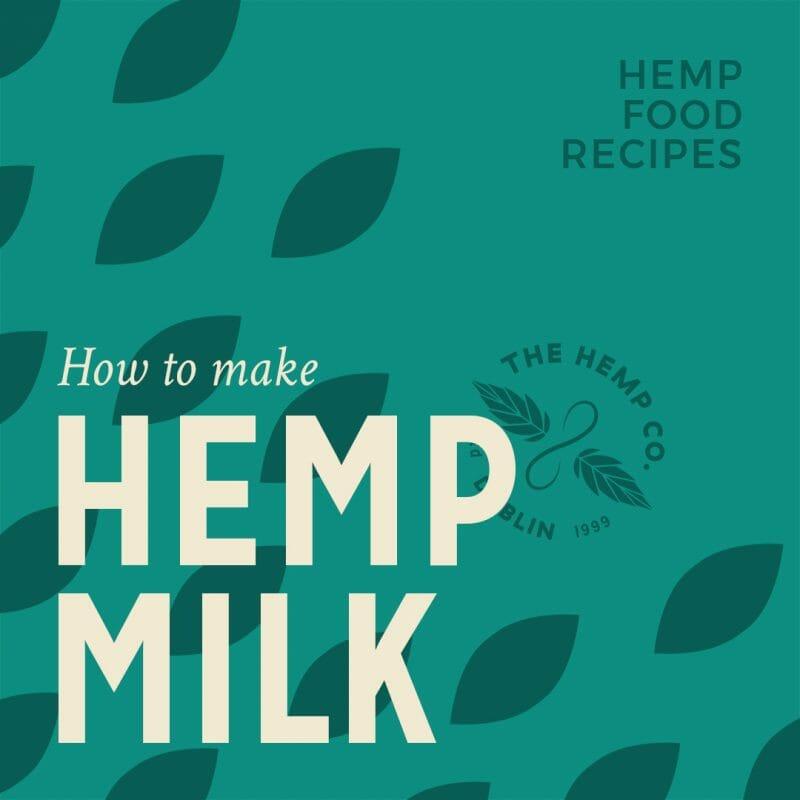 How to make hemp milk intro graphic for recipe