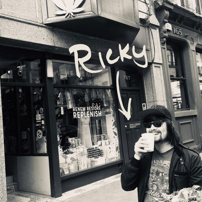 Ricky Murphy outside the store on Capel Street