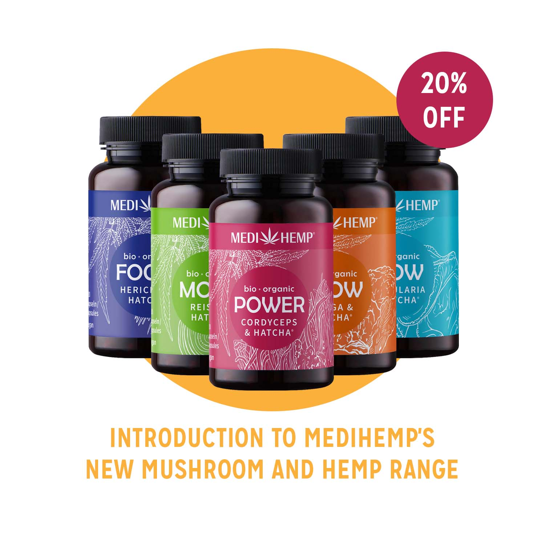 MediHemp Mushroom and CBD Capsules Offer